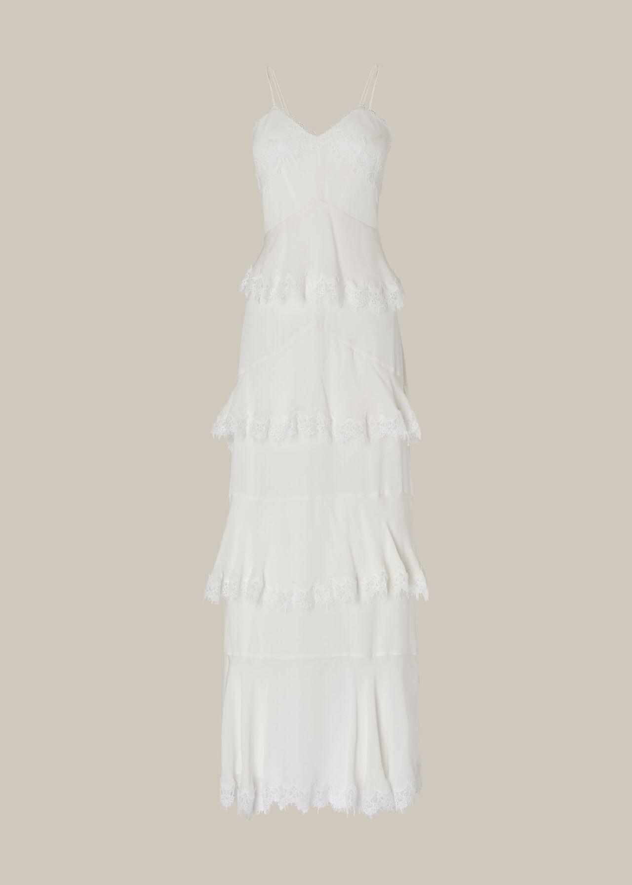 Isla Tiered Wedding Dress Ivory