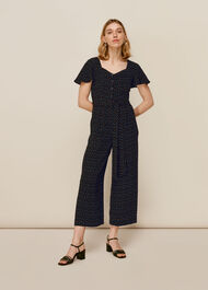 Micro Triangle Print Jumpsuit Black/Multi
