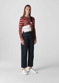 Essential Stripe Top Red/Multi