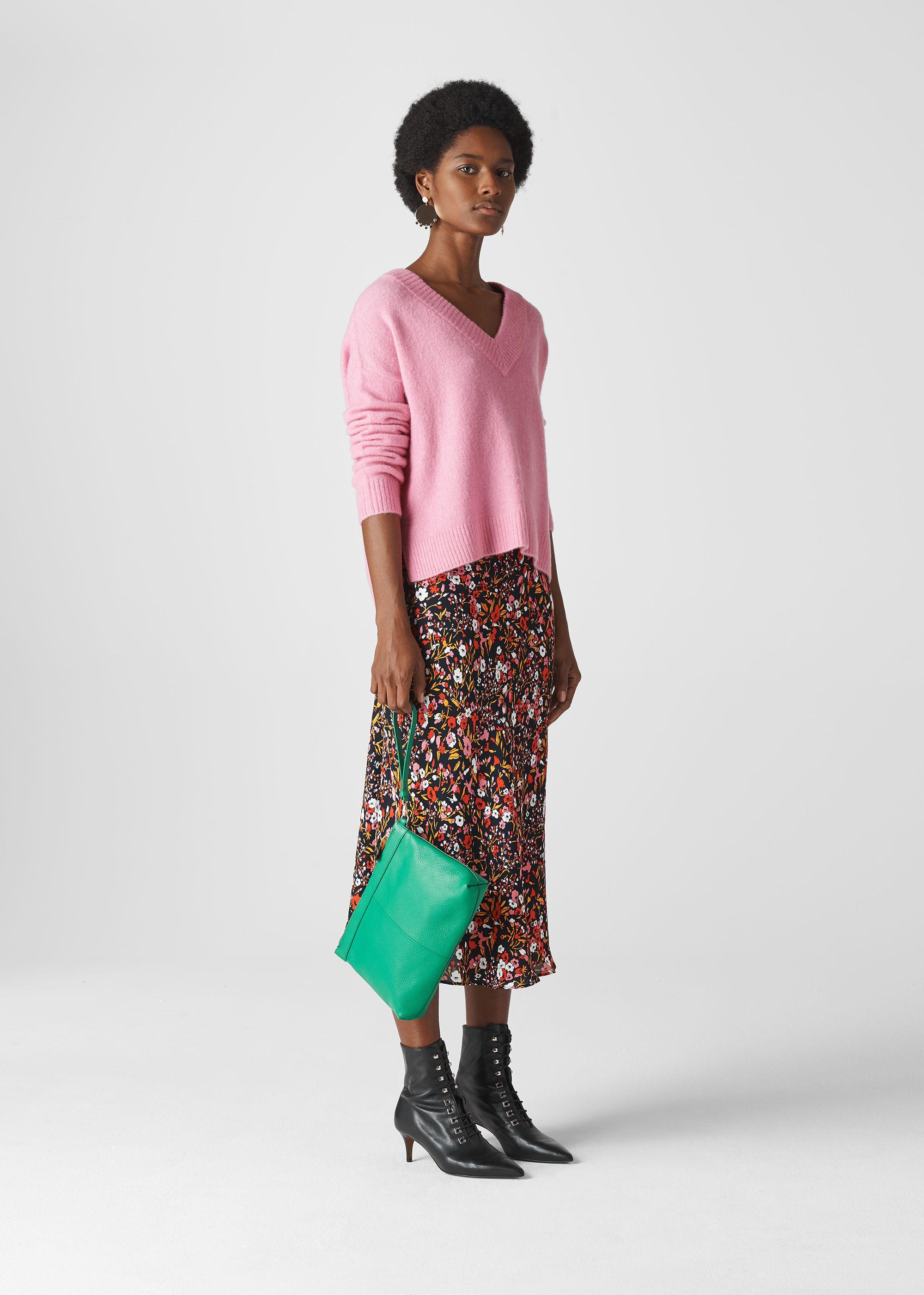 Whistles Women Floral Meadow Bias Cut Skirt