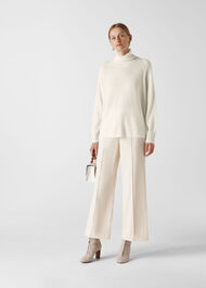 Cashmere Roll Neck Sweater Ivory