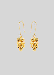 Cluster Drop Earring Gold/Multi