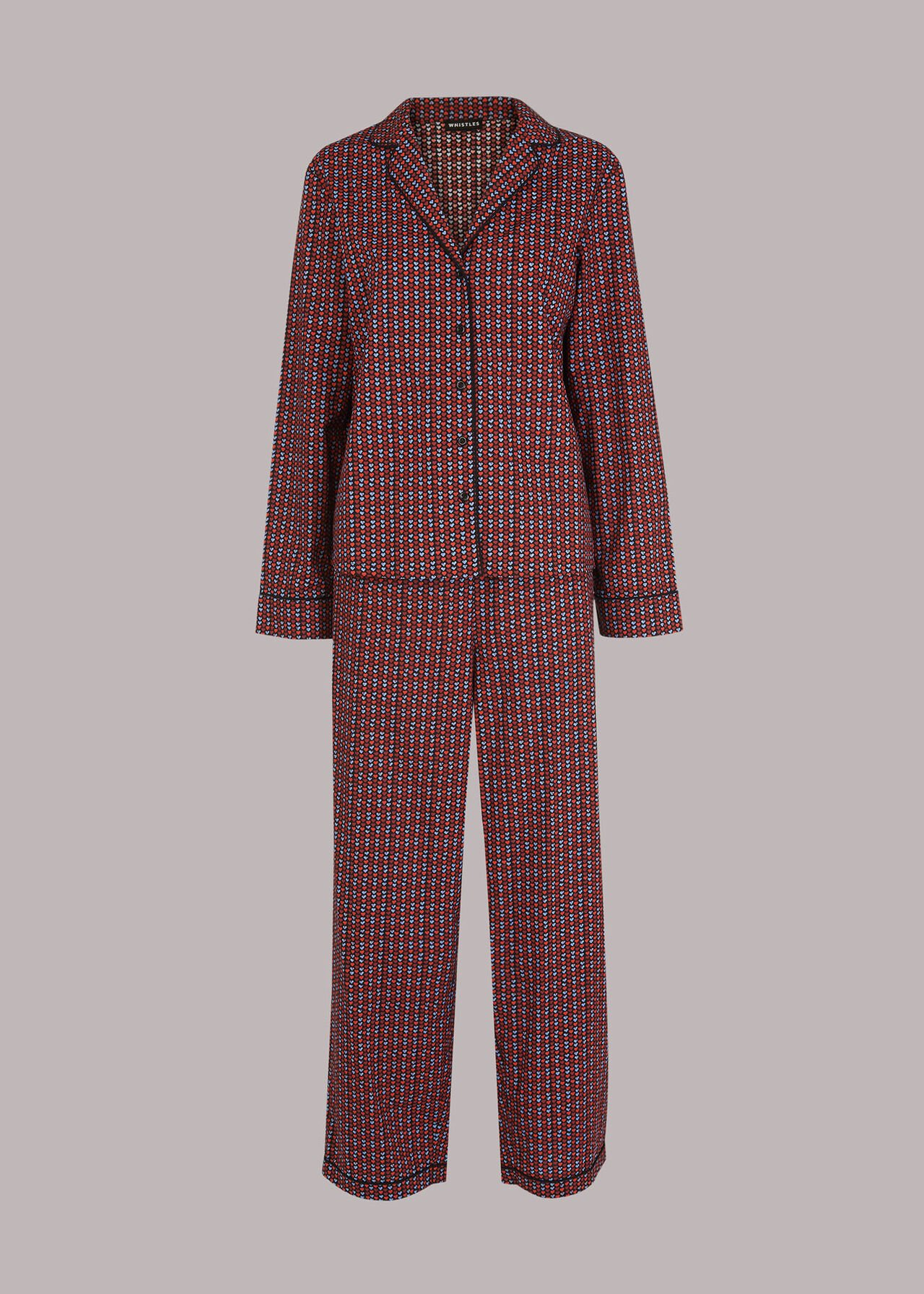 Heart Print Cotton Pyjamas