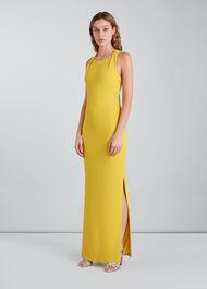 Tie Back Maxi Dress Yellow
