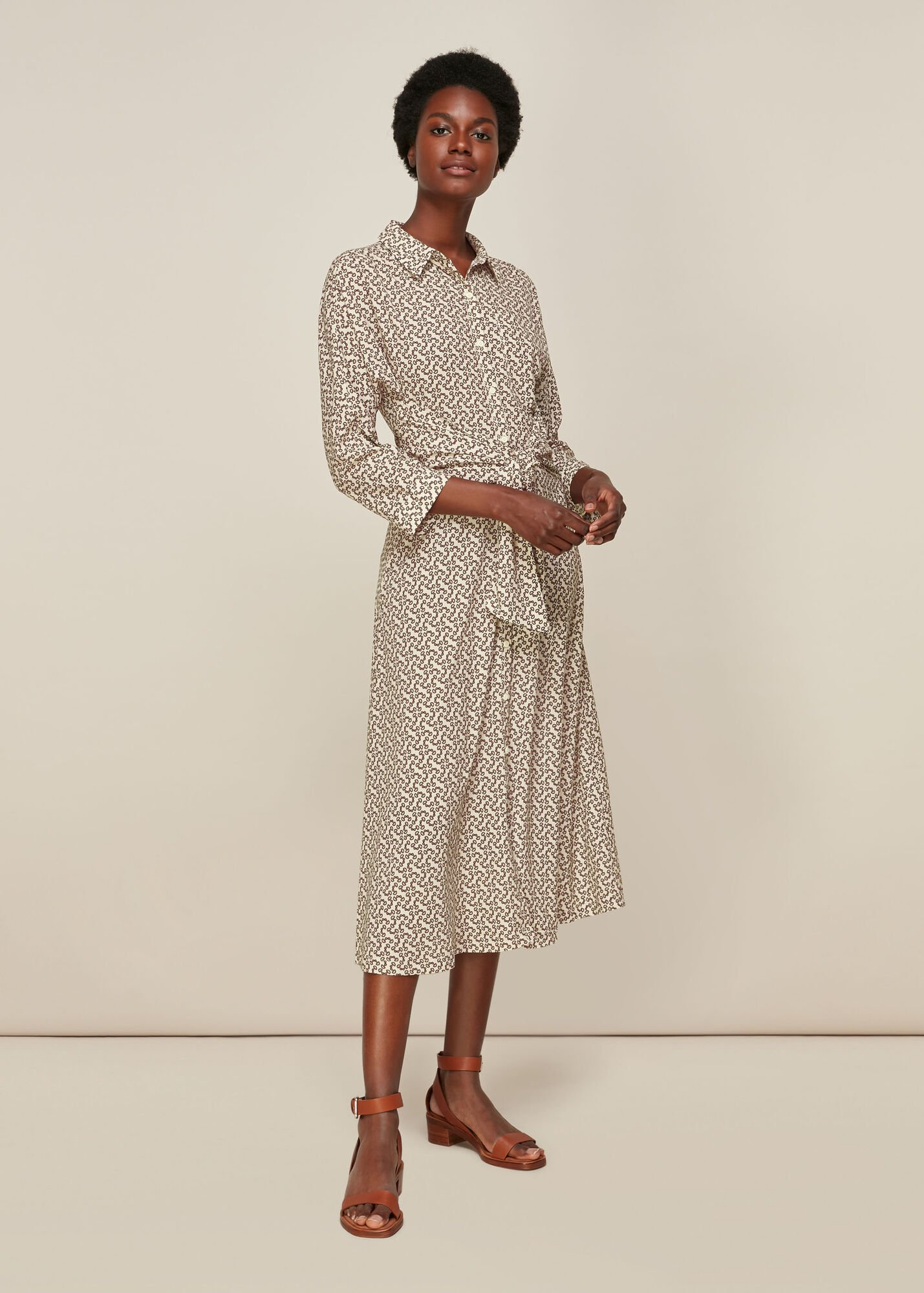 Snaffle Shirt Tie Front Dress