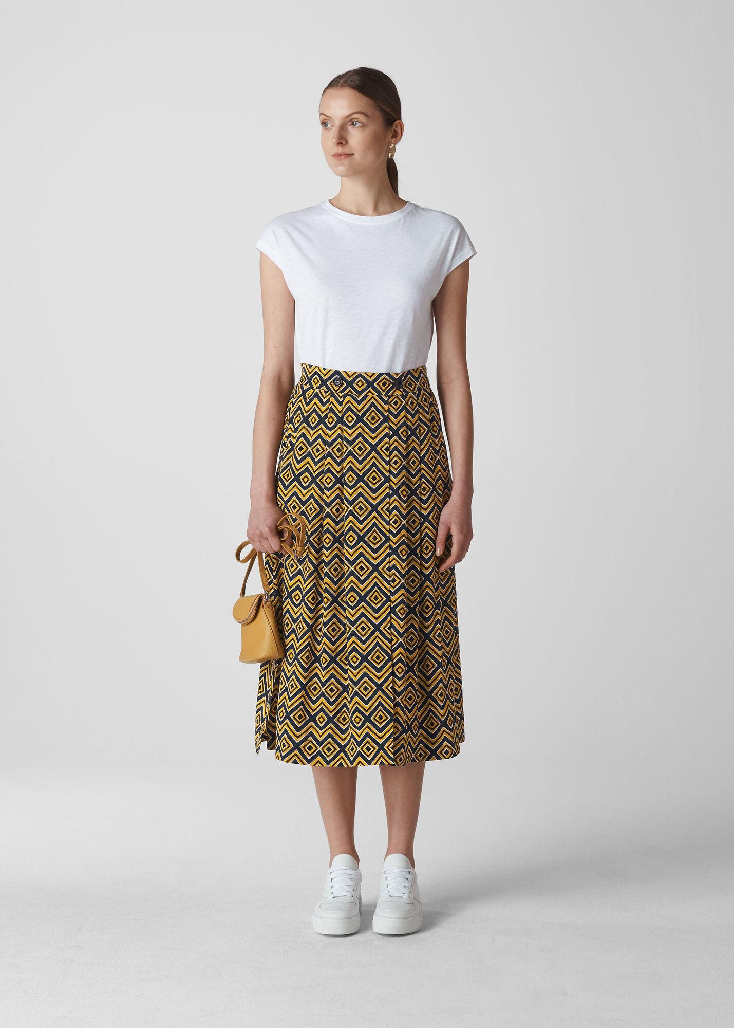 Zig Zag Print Wrap Skirt