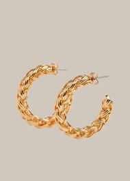 Plaited Large Hoop Earring