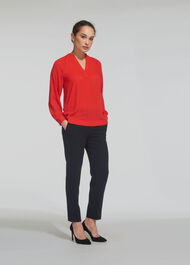 Catalina V-Neck Top Red