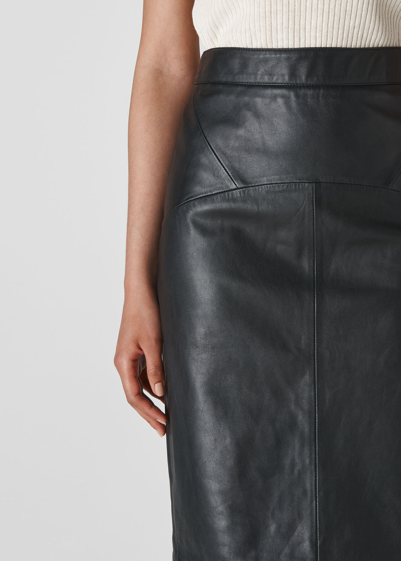 Kel Leather Pencil Skirt