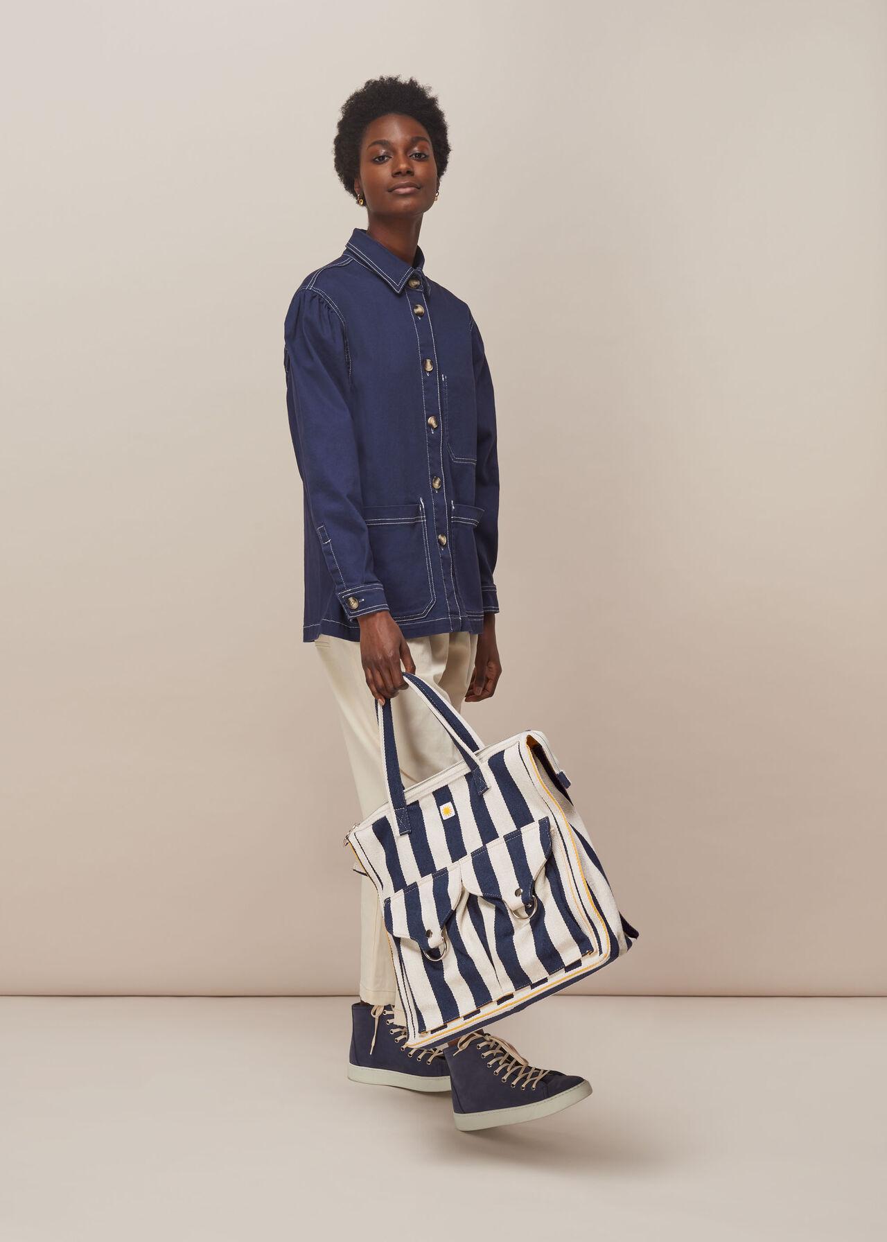 LF Markey Stripe Shopper Bag