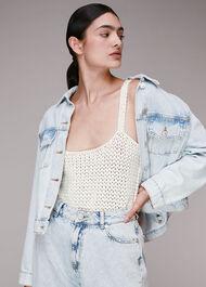Cross Back Crochet Vest