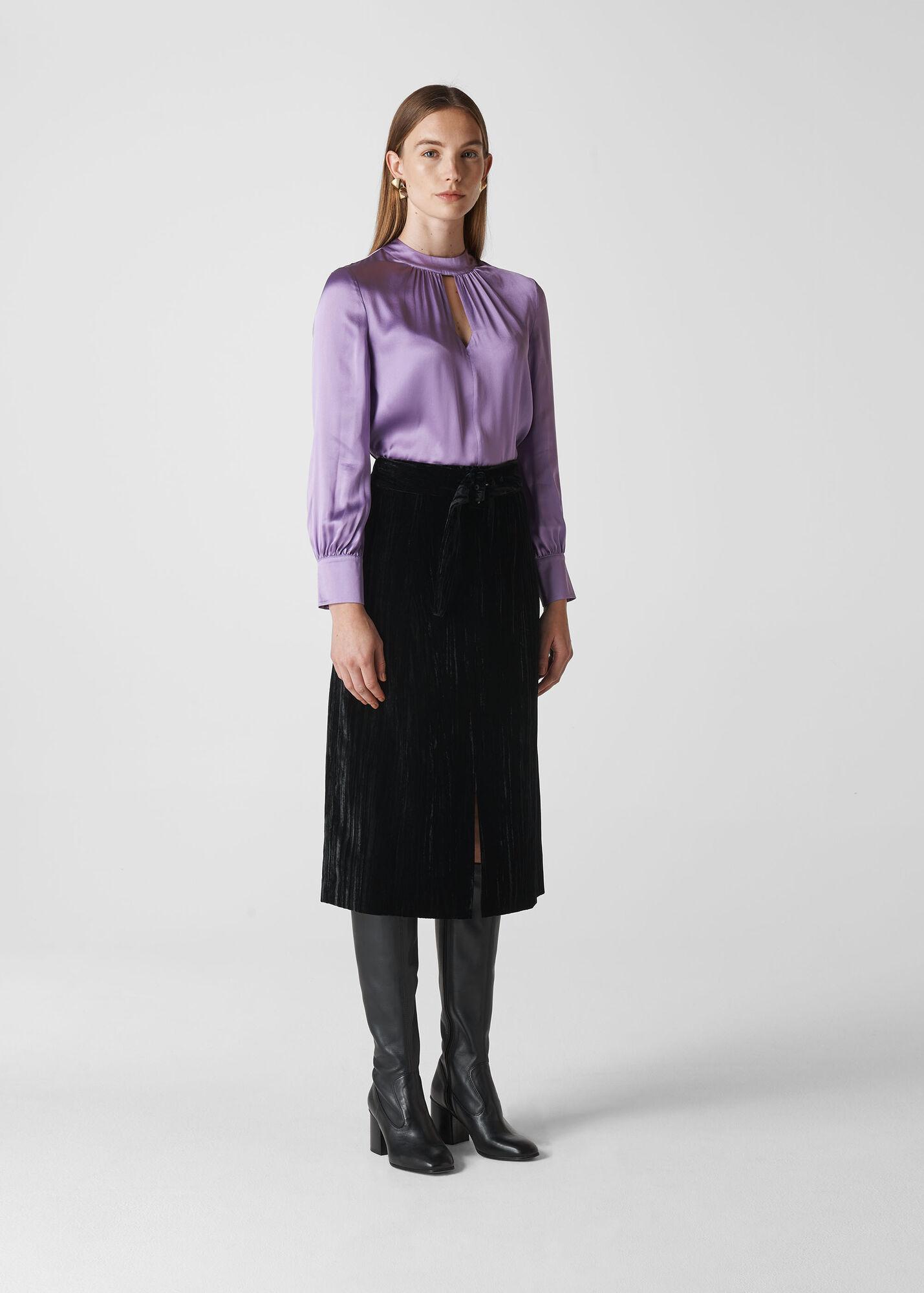 Cora Silk Satin Blouse