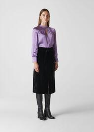 Cora Silk Satin Blouse Lilac