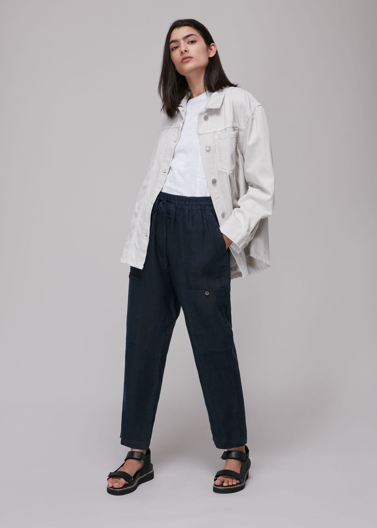 Linen Cargo Trouser