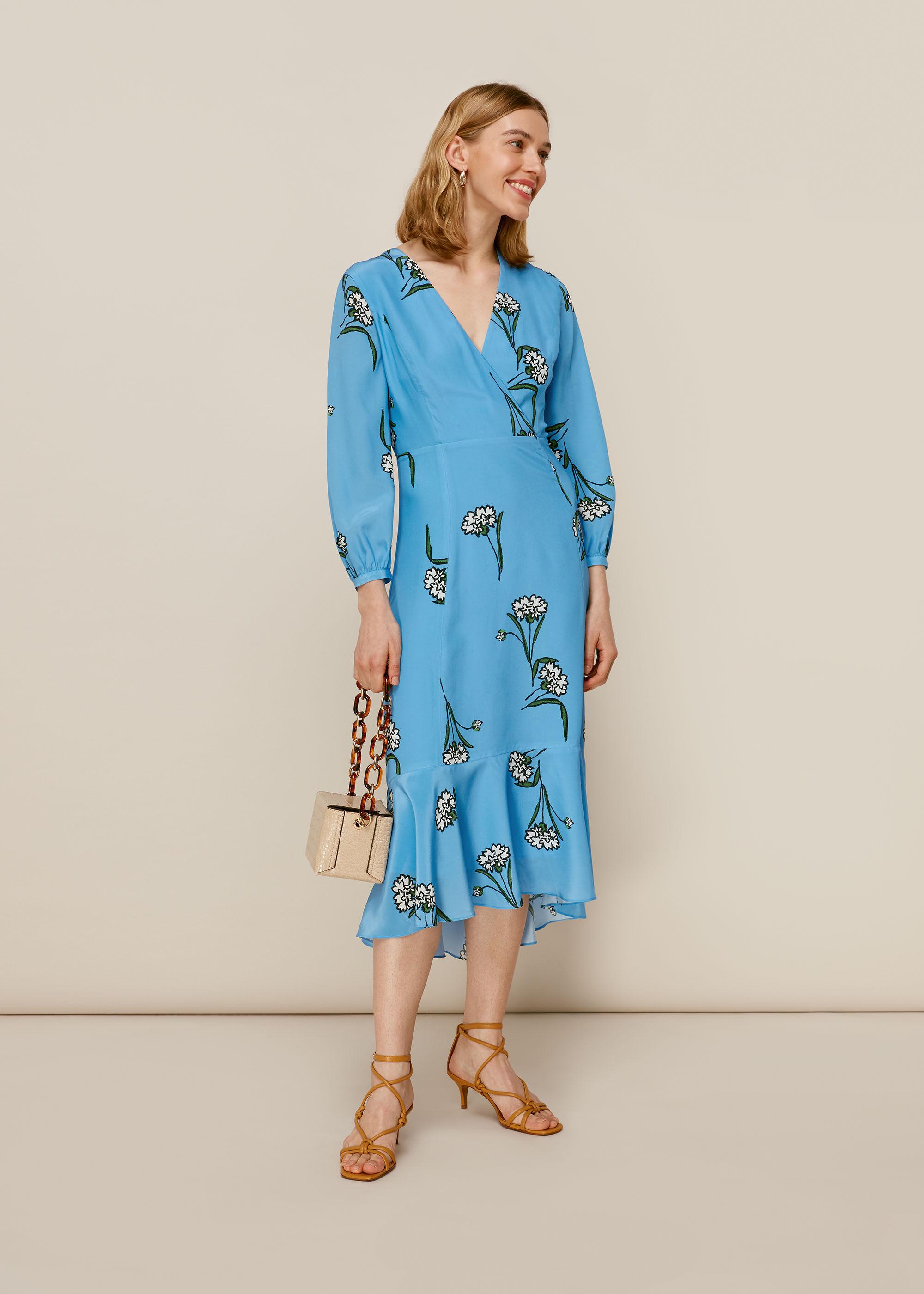 Whistles Women Sprig Flower Silk Dress