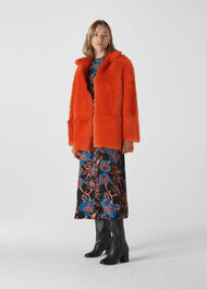 Alba Shearling Coat Orange