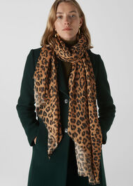 Lily and Lionel Leopard Scarf Beige