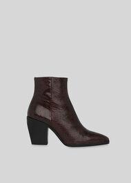 Grove Snake Western Ankle Boot Snake Print