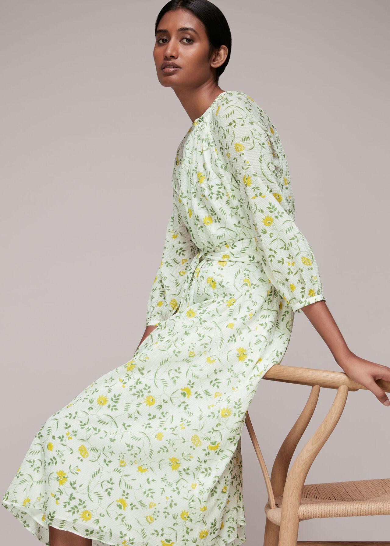 Savannah Floral Silk Mix Dress
