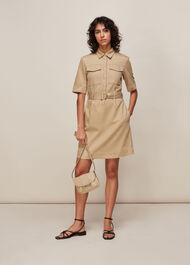 Gemma Shirt Dress Oatmeal