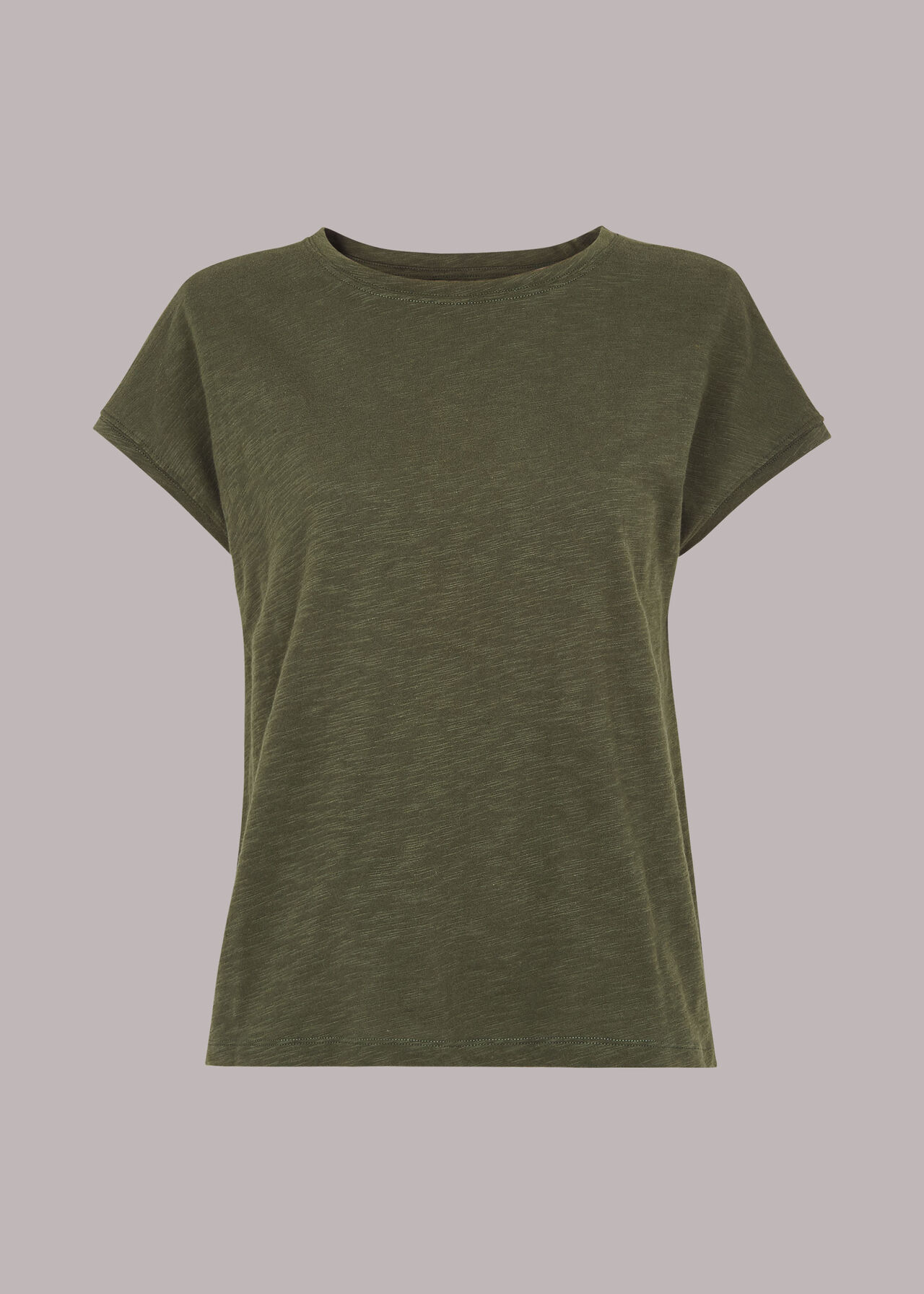 Minimal Cap Sleeve Tee Khaki