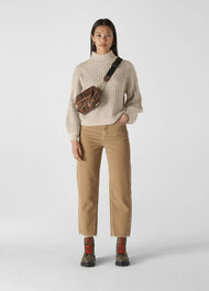 Textured Rib Blouson Knit Multicolour