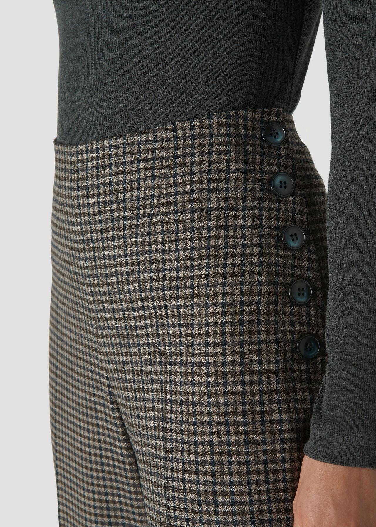 Eleni Check Wide Leg Trouser Multicolour