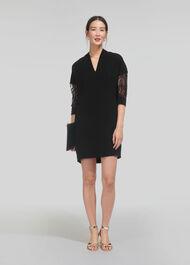 Paige Lace Sleeve Dress Black