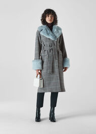 Fur Collar Coat Multicolour