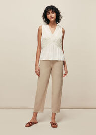 Leora Lace Detail Top Ivory