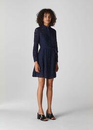 Oliviana Lace Mini Dress Navy