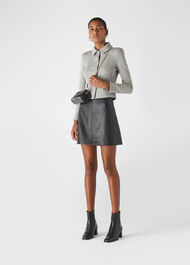 Button Front Jersey Jacket Grey