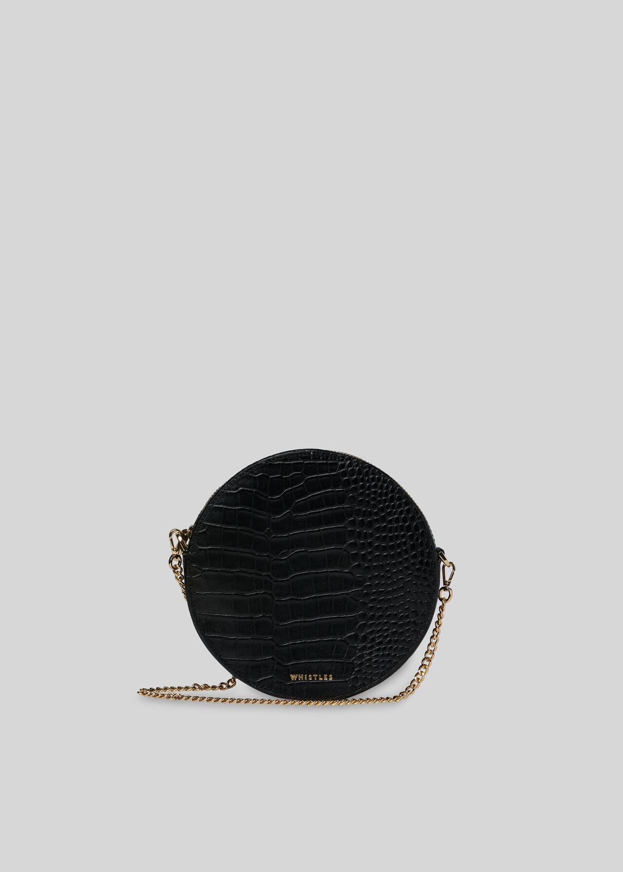 Brixton Circular Croc Bag Black Whistles