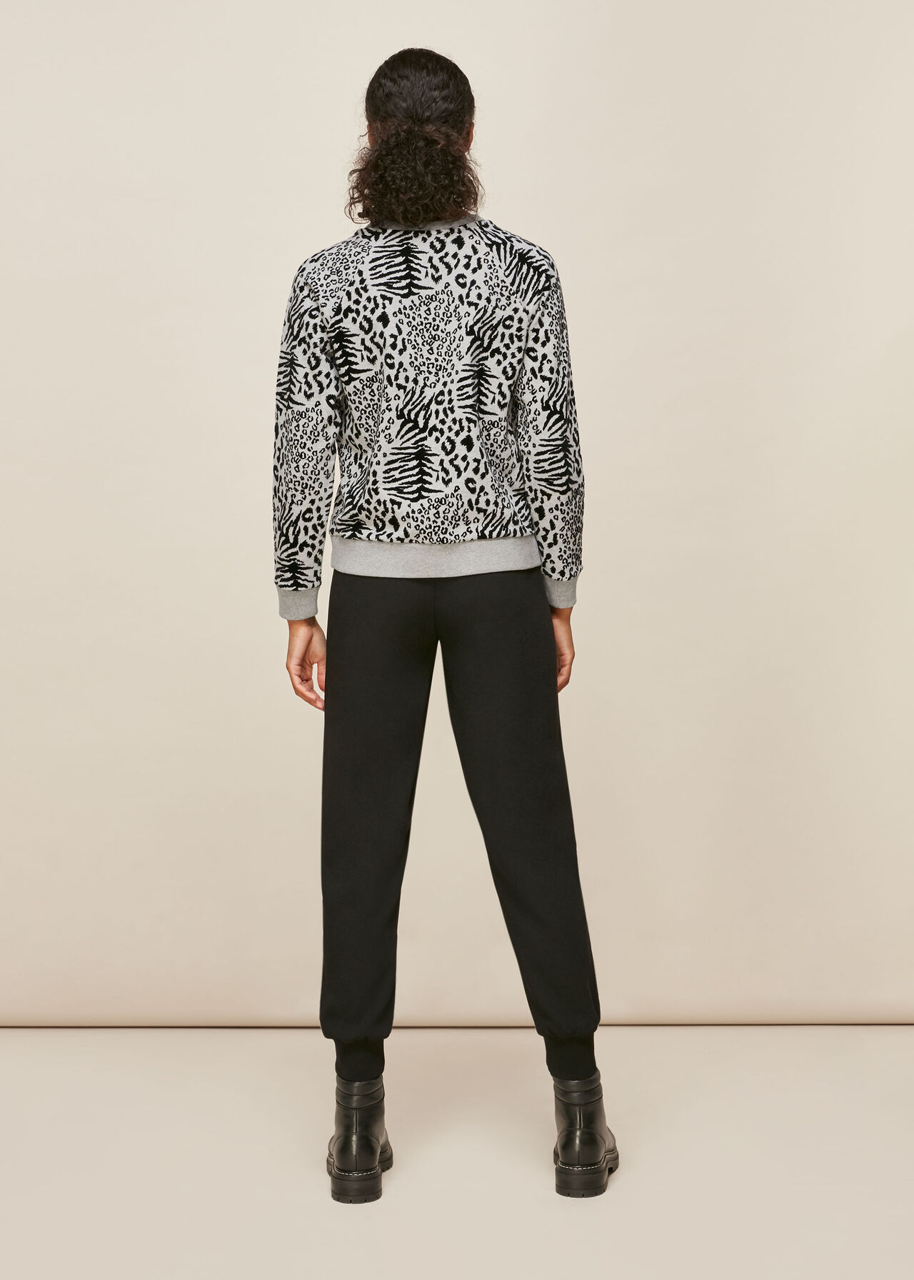 Flocked Animal Sweatshirt