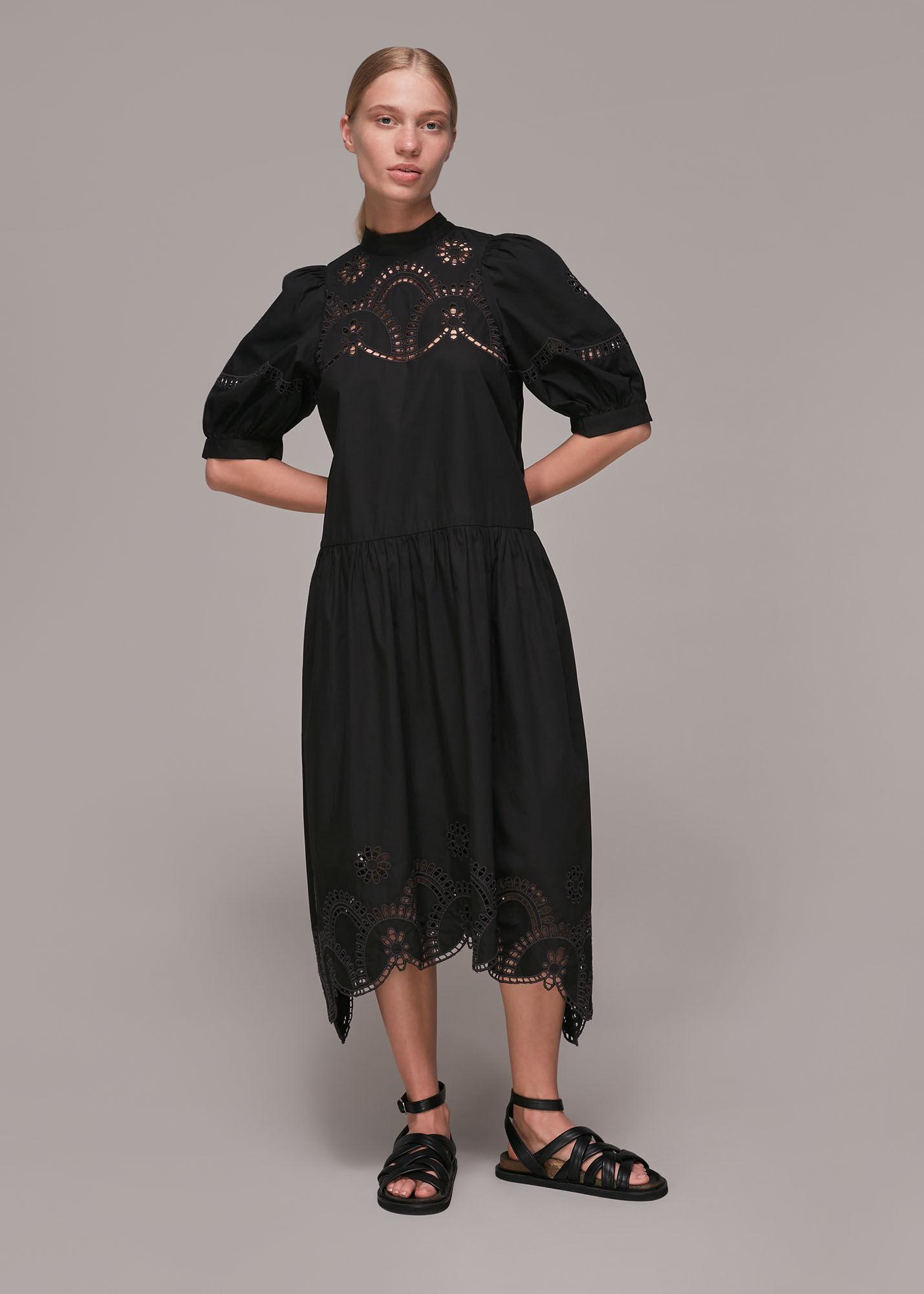 Whistles Women Broderie Cutwork Poplin Dress