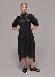 Broderie Cutwork Poplin Dress