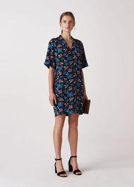 Elderberry Print Devyn Dress Black/Multi