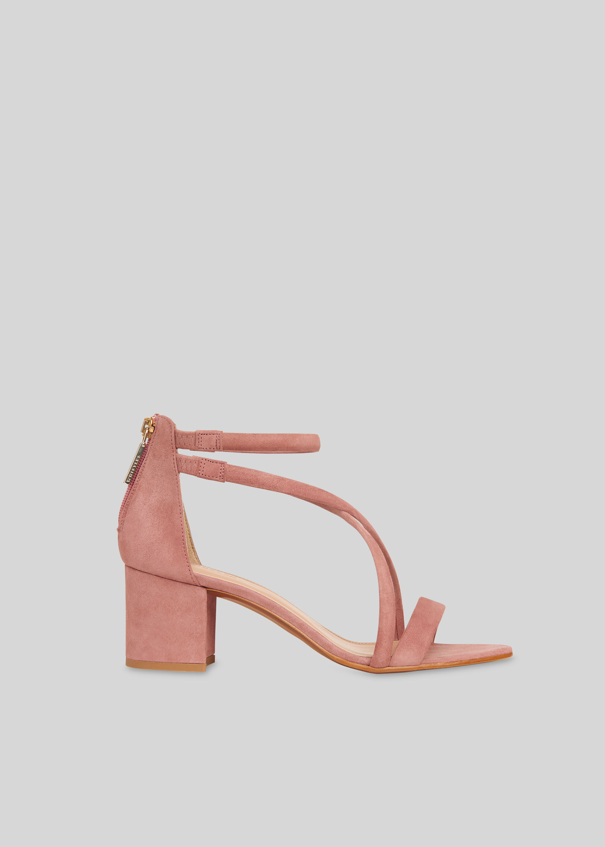 Nude Marquelle Strappy Suede Sandal