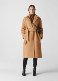Wool Textured Belted Coat