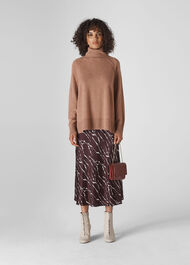 Cashmere Roll Neck Sweater Pale Pink