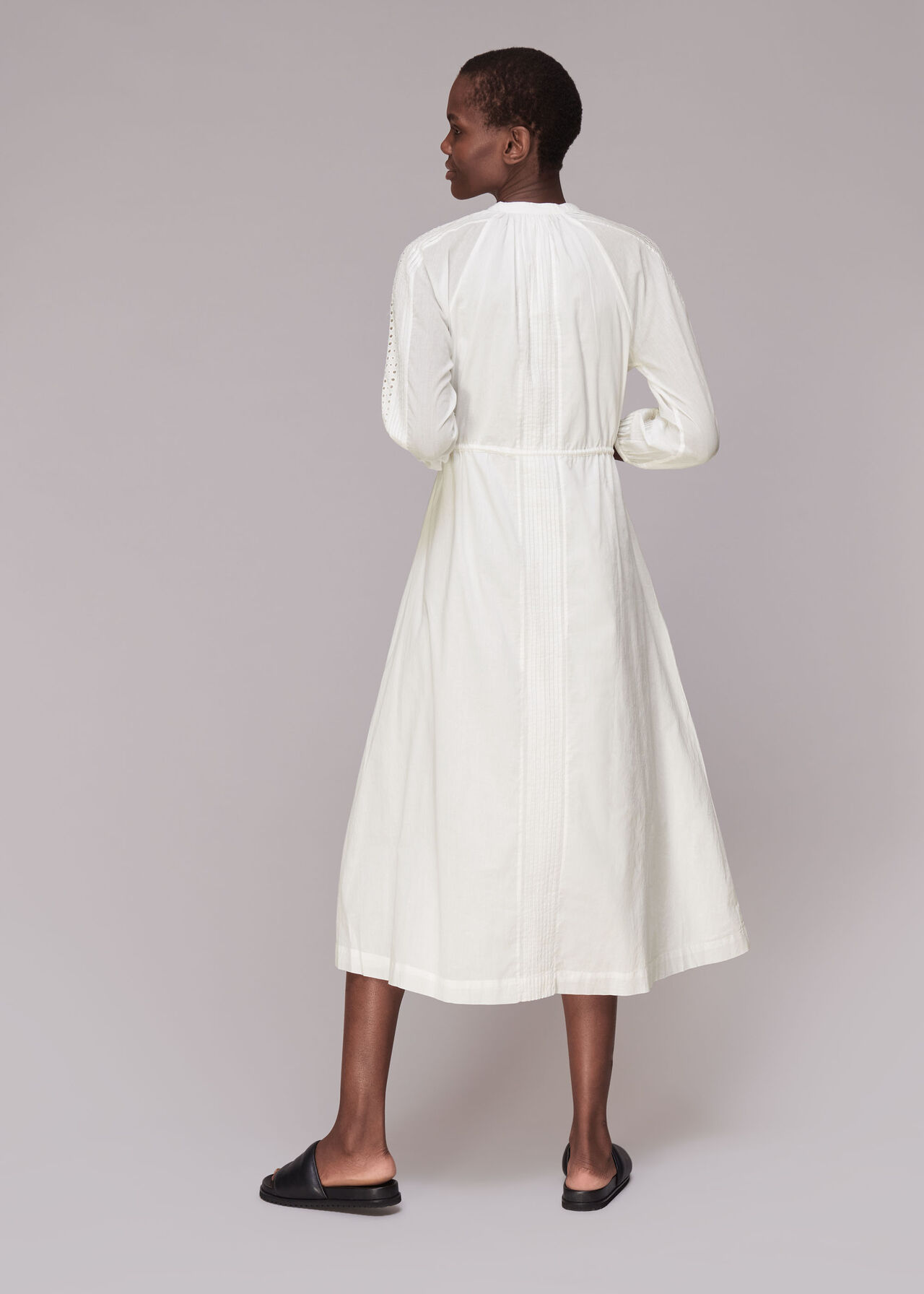 Cotton Embroidered Dress White