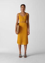 Hand Crochet Skirt Yellow