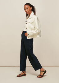 Suede Leather Cargo Trouser