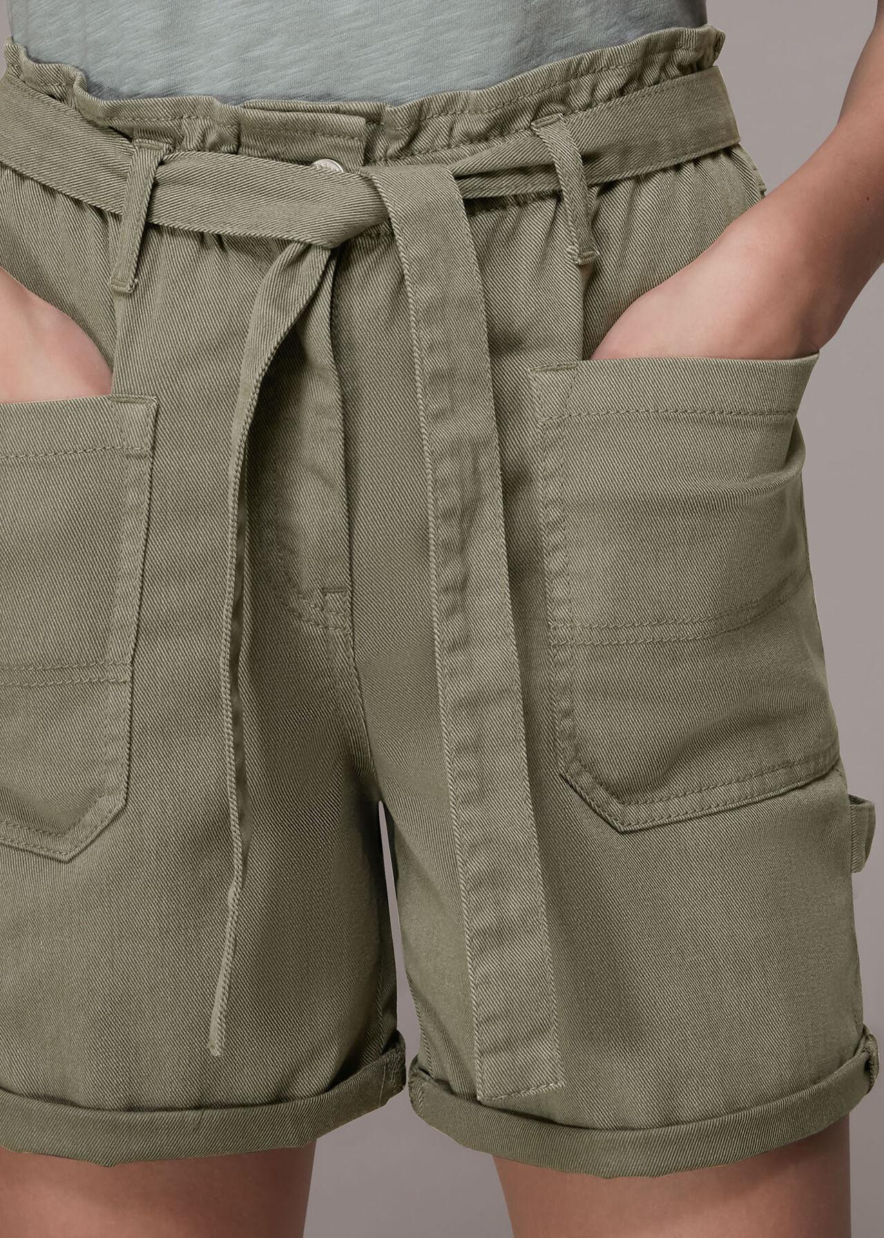 Tie Waist Cargo Pocket Short