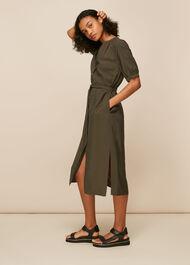 Olivia Button Midi Dress