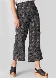 Sahara Printed Trouser Black and White