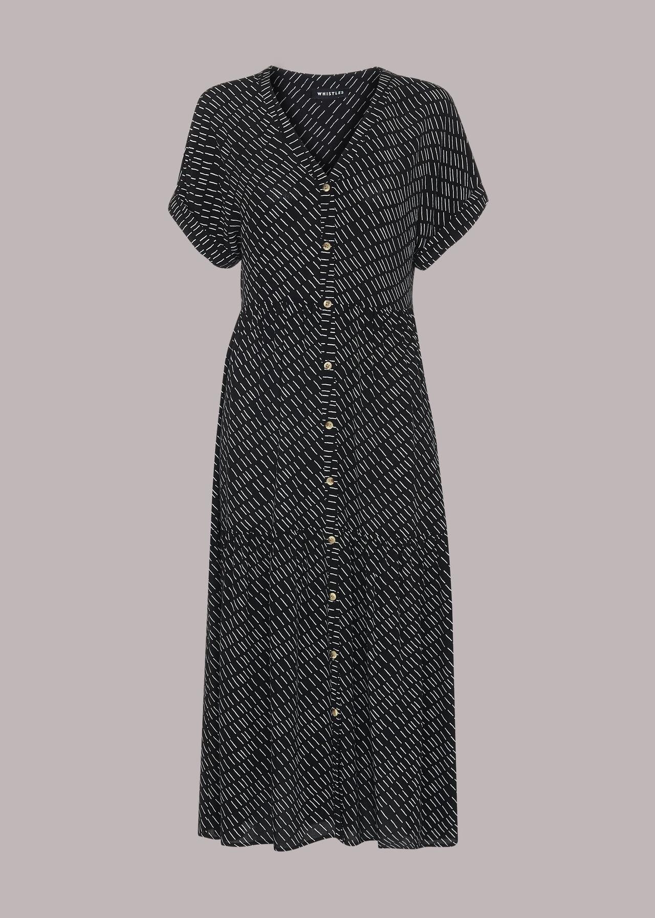 Geo Print Tiered Dress
