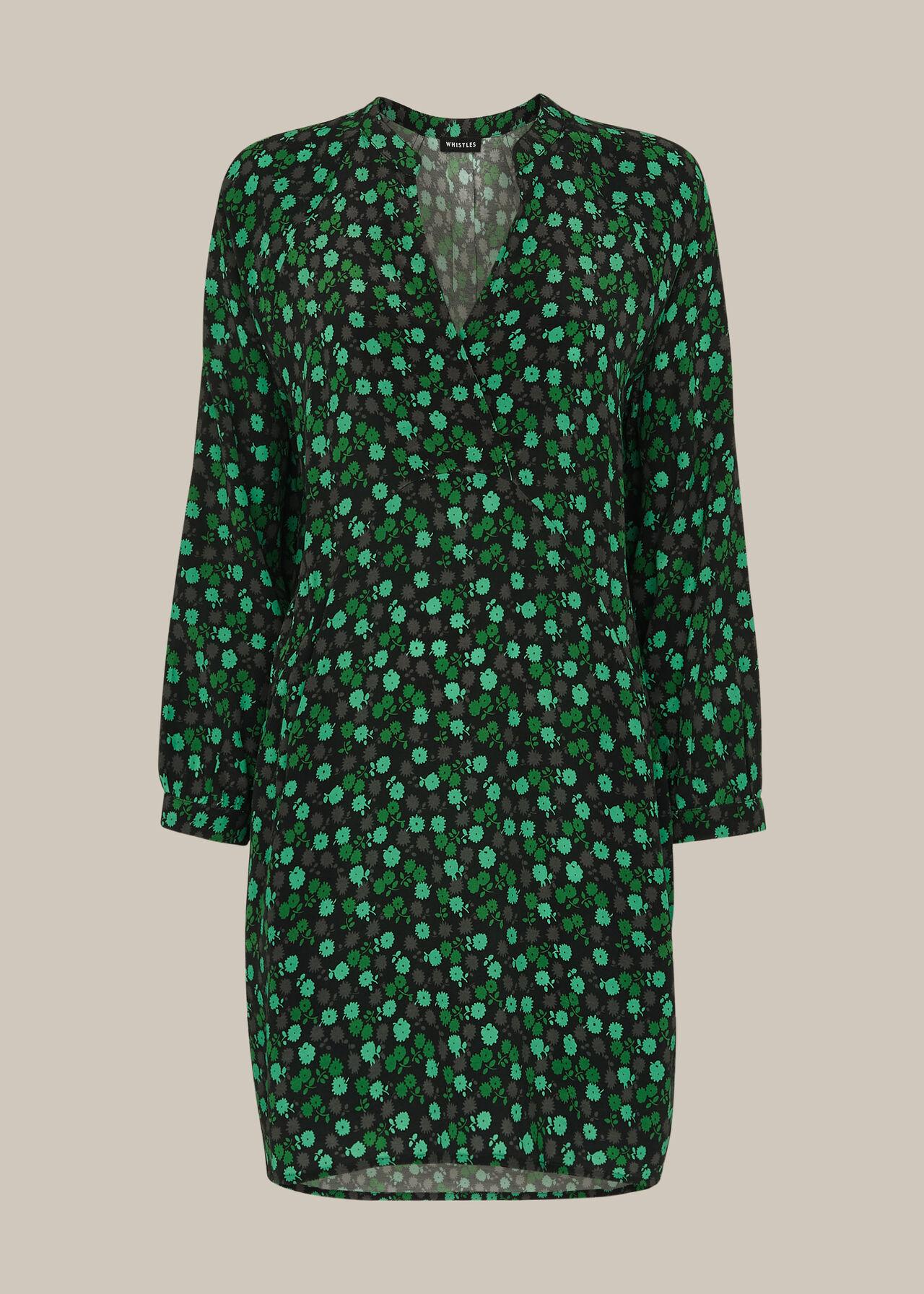 Winter Ditsy Sack Dress