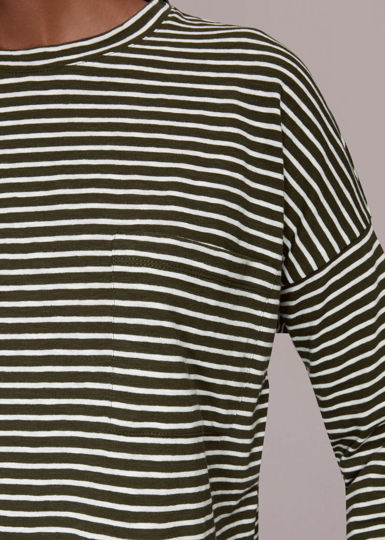 Stripe Cotton Pocket Top