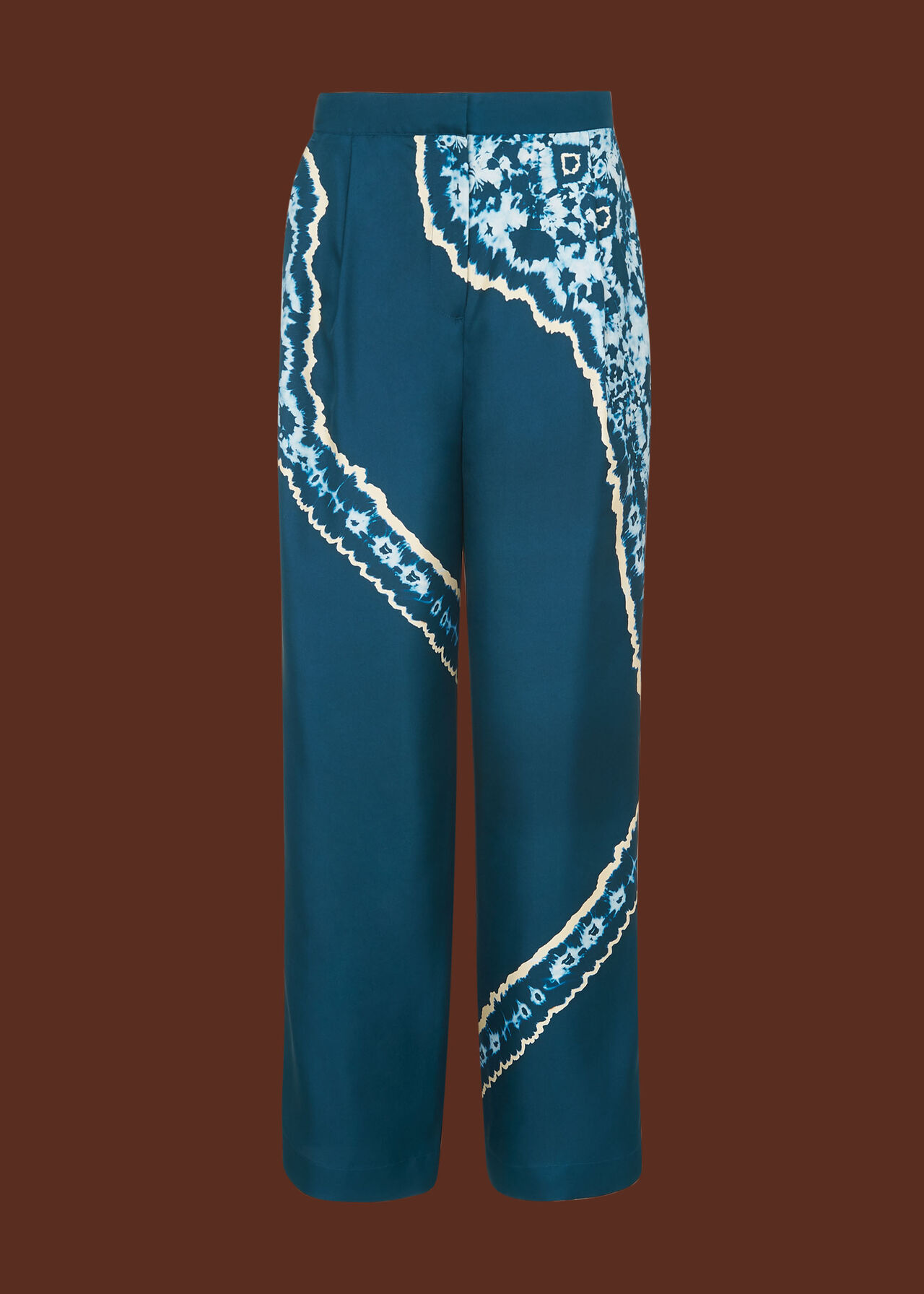 Silk Tie Dye Trouser